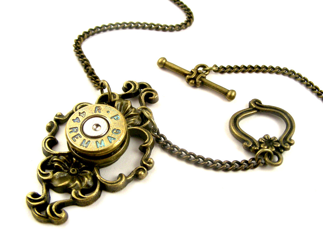18-Rustic-Victorian-44-Magnum-Bullet-Nicholas-Hrabowski-Steampunk-Jewelry-from-Recycled-Watches-and-Bullets-www-designstack-co