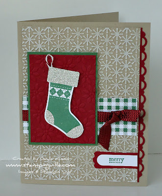 Stampin' Up! Stitched Stockings Holiday Greeting Card