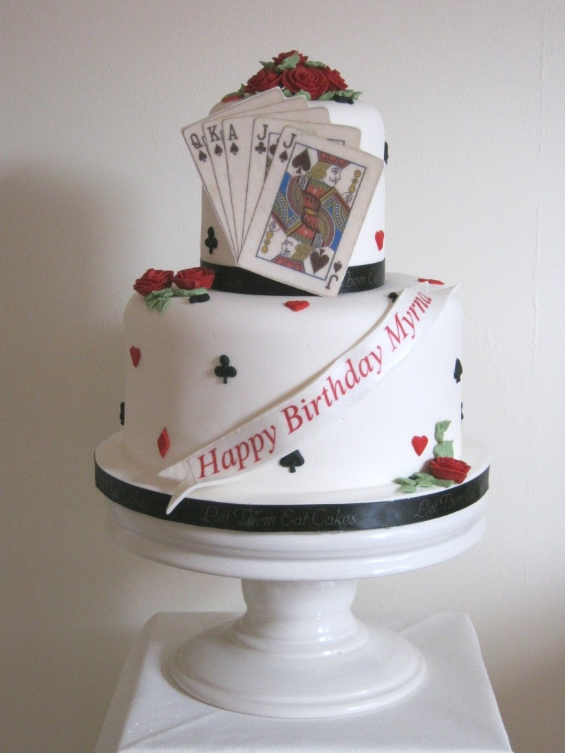 Cake Images Card : Let Them Eat Cakes: Euchre Cake For Myrna