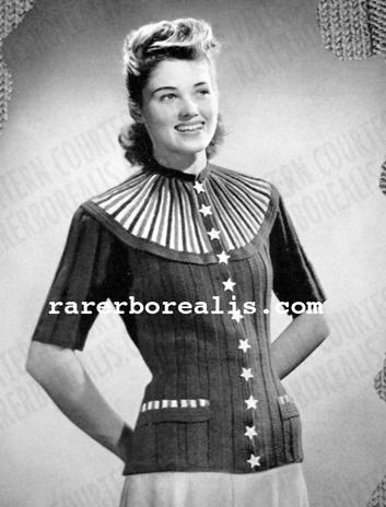 Free Pattern 1940's Knitting - Americana Cardigan