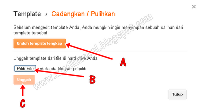 Cara Backup dan Upload Template Blogspot