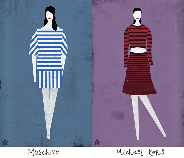 Fashion -- spring 2013: Moschino, Michael Kors