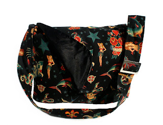 Tatto - Black - Very cool and trendy punk rock diaper bag by Baby Rebellion