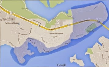 Scenic Shores Neighborhood Association Boundaries