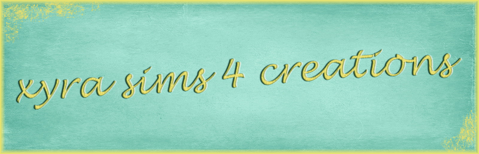 xyra sims 4 creations