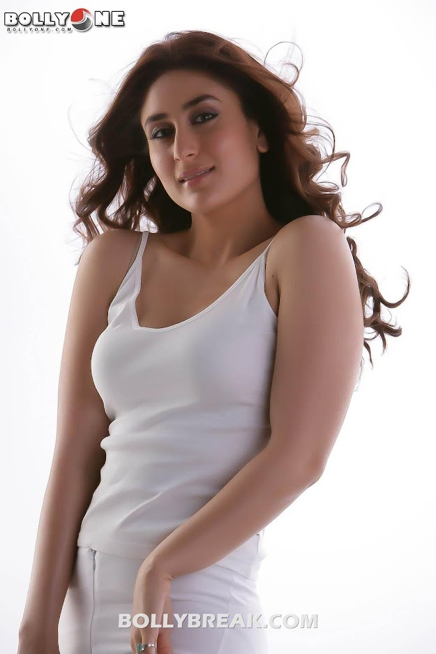 Kareena Kapoor white Dress Photo -  Kareena Kapoor Latest Photoshoot in White - July 2012 Hd Pics