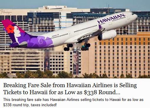 Discount Air Fares