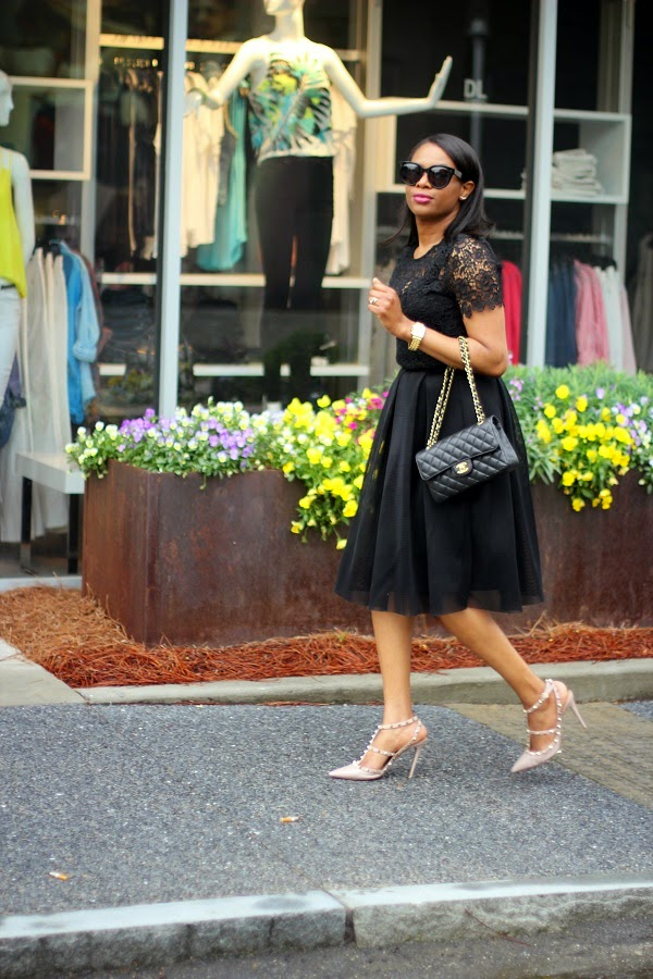 black on black, lace, mesh, lace top, mesh skirt, midi skirt, lace top, mesh midi skirt, ladyee boutique, black skirt, chanel bag, qulited bag, black sunglasses, valentino, rocks studs, nude shoes, gorjana, crawler earrings, CRAWLER EARRINGS, SHOPBOP,  co-ords, matching outfit, ladyee boutique, valentino, alexander mcqueen, tom ford, round sunglasses, gold bag, gold clutch, valentino, rocks studs, rocksstuds, naural hair, shoes around Lenox, michele watch,  nordstrom, j crew, madewell, high riser jeans, high waist jeans, blue jeans, jeans, gucci, gucci belt, crawler earrings, earrings, valentino, rocks studs, valentino rocks studs, celine, tortoise shell, tortoise sunglasses, celine sunglasses, celine clutch, blue clutch, blue bag, red lips, red lipstick, michele watch, gold watch, SPRING TRENDS, SPRING FASHION, SPRING STYLE, fashion, fashion friday, tgif,  reed krakoff cuff, silver cuff, reed krakoff,   FASHON, STYLE, FASHION BLOG, FASHION BLOGGER, F BLOGGER, STYLE BLOG, STYLEBLOGGER, STYLIST, STYLISH, STREETSTYLE, PERSONAL STYLE, PERSONAL STYLE BLOGGER, BLOGGER, BLOG, INSTA STYLE, INSTA FASHION, WHAT TO WEAR, OOTD, FASHION OF THE DAY, STYLE OF THE DAY, FASHION AND STYLE, winter STYLE, WHAT TO WEAR FOR This season, MUST HAVE, winter TRENDS, fashion TRENDS  , Atlanta blogger