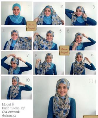 Cara Memakai Jilbab Simple Buat Hari Lebaran - Tutorial Memakai Jilbab ...