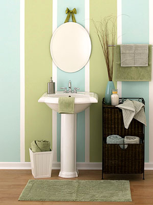 Home quotes 11 bathroom designs for kids and teens for Blue green bathroom ideas