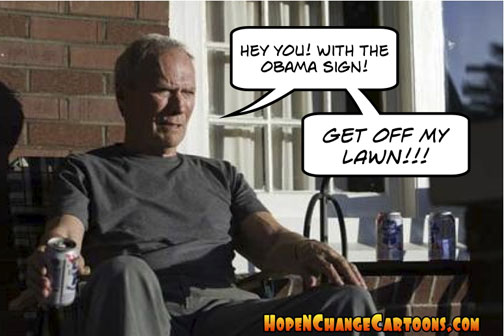 Clint Eastwood tells Obama supporters to get off his lawn