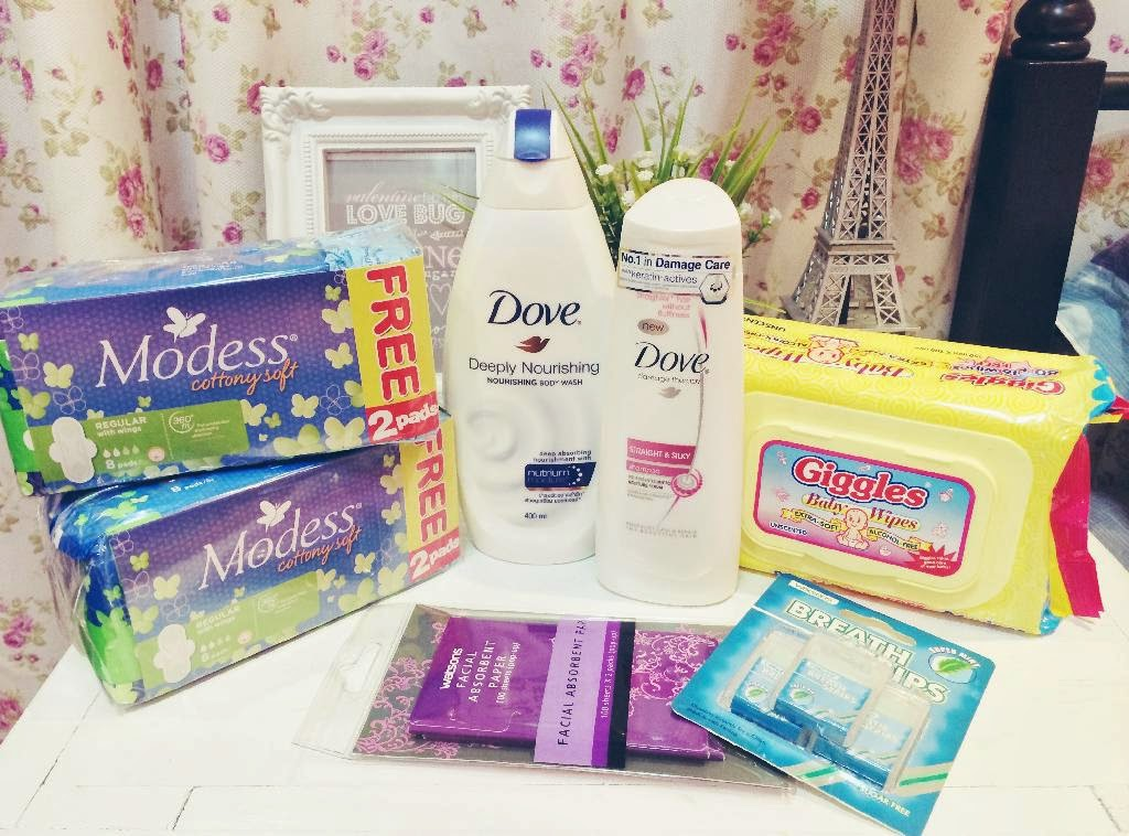 watsons purchases haul collection review breath strips blotting sheet dove shampoo body wash modess napkin pads promo giggles wipes review feedback blog comment