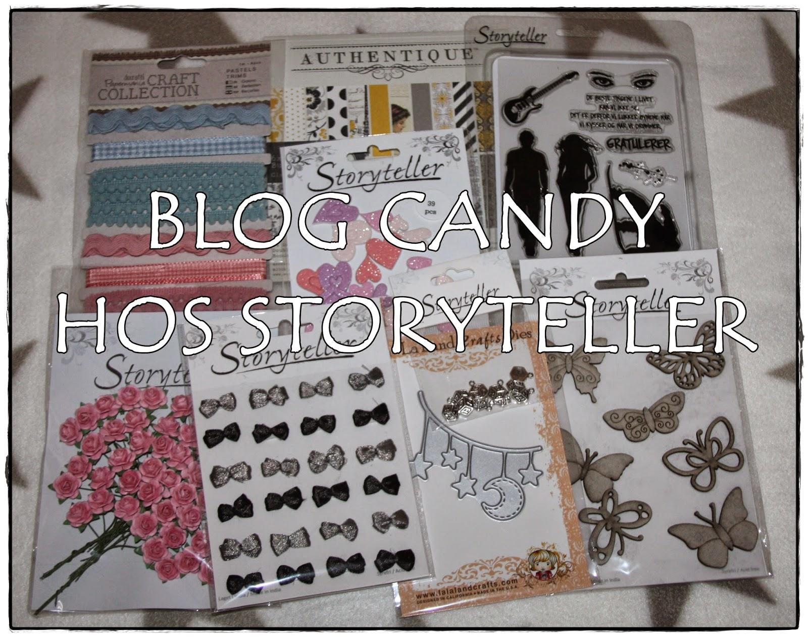Blogcandy hos Storyteller