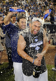 Dodgers champagne celebration