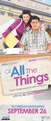 Of All The Things Movie Poster (Aga Muhlach and Regine Velasquez)