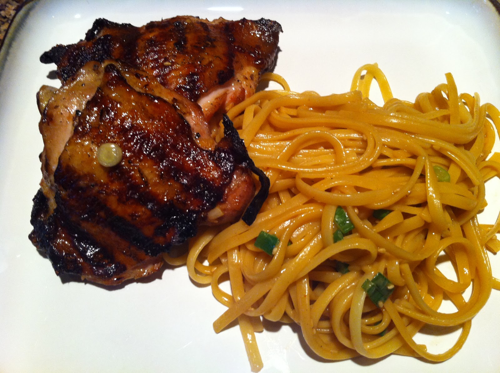 Food our heritage dirty ps garlic ginger chicken thighs sesame tonight i made 2 dishes from the food network the chicken thighs are a guy fieri recipe which is very easy the thighs grilled up with a crispy outside forumfinder Choice Image