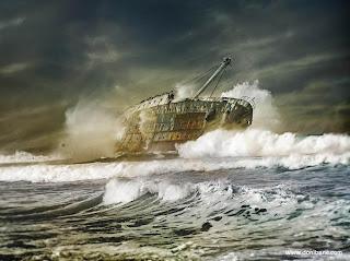 Kapal, Kapal Karam, Kapal Laut, Kapal Rosak, Kapal Besar, Kapal Lukisan
