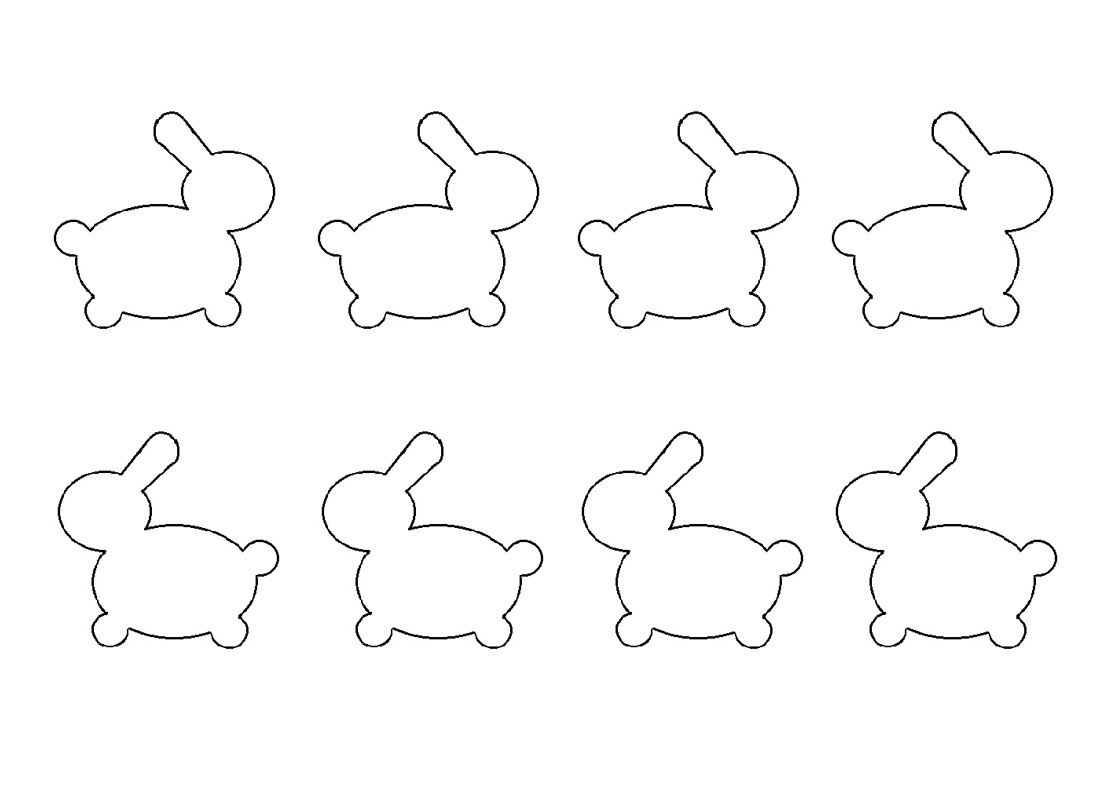 Cherie Kelly's 兔子燈籠 rabbit macarons piping template