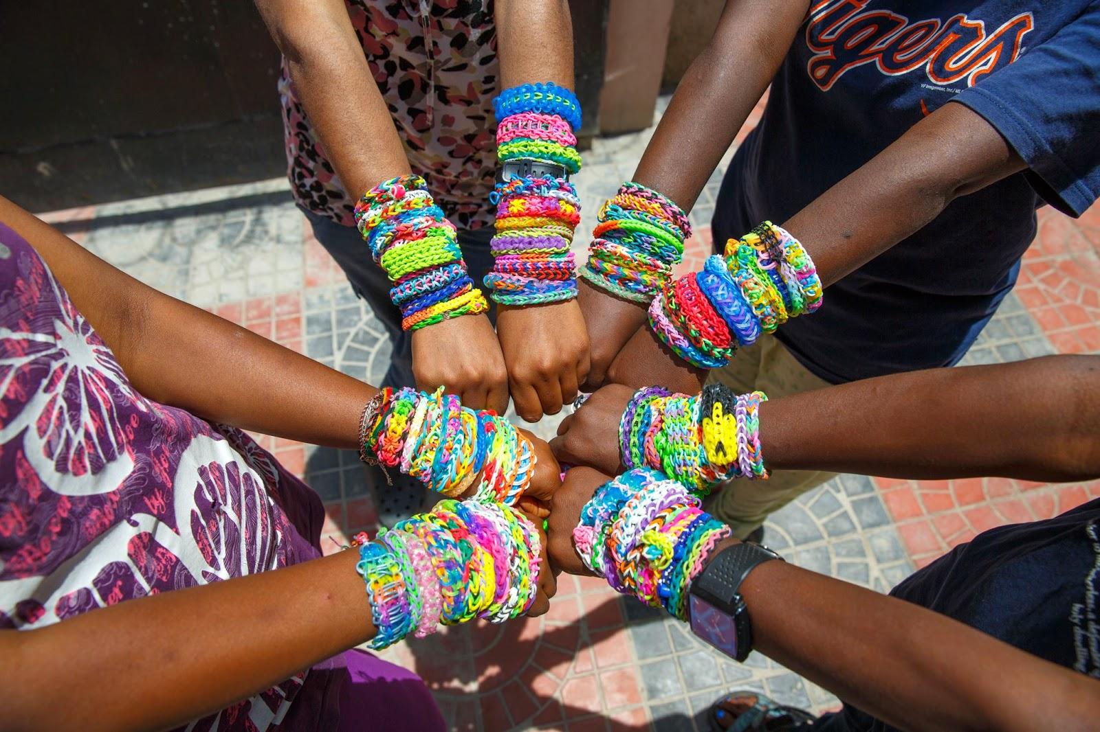 Rainbow Loom bracelets in Ethiopia