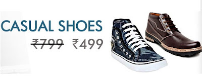 Snapdeal Offer of Day : Men's Casual Shoes for Rs.499 Only with Free Shipping