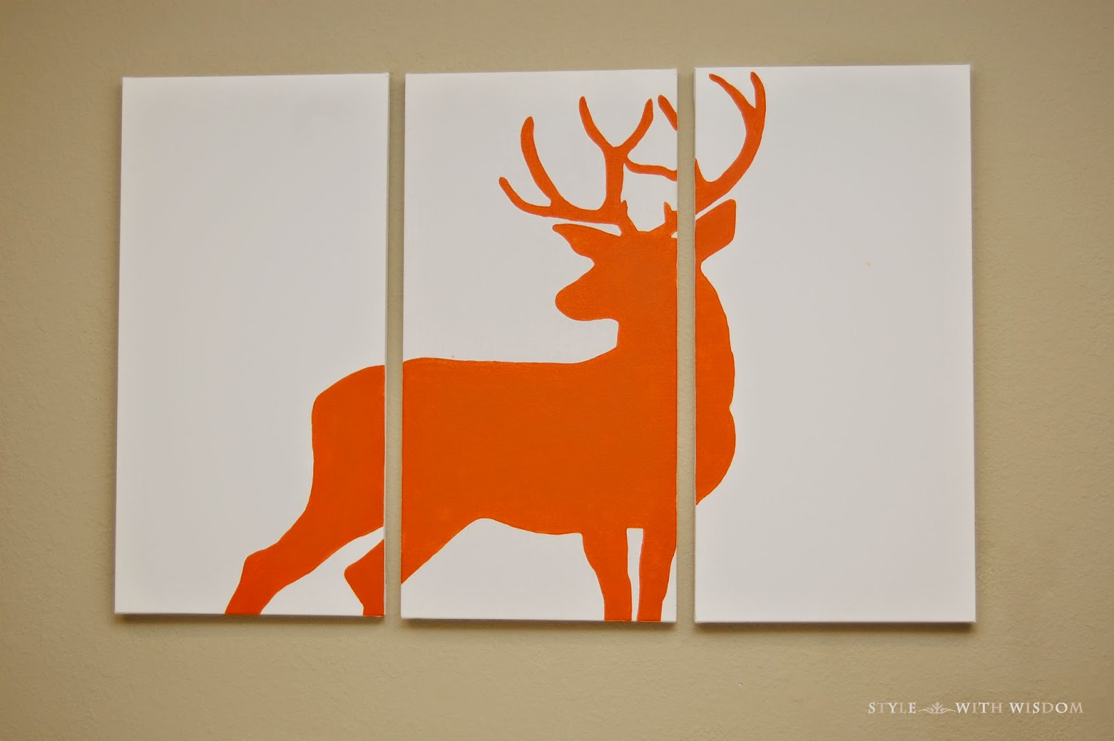 rustic woodland nursery diy deer art