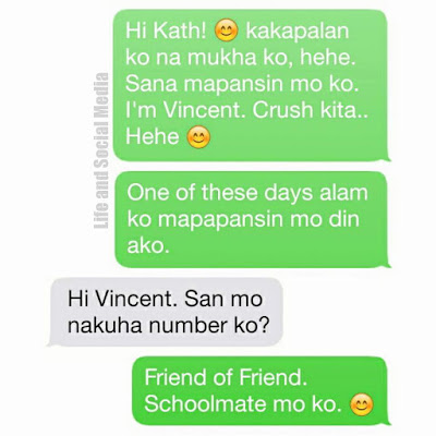 The text message that started it all on Kath and Vince