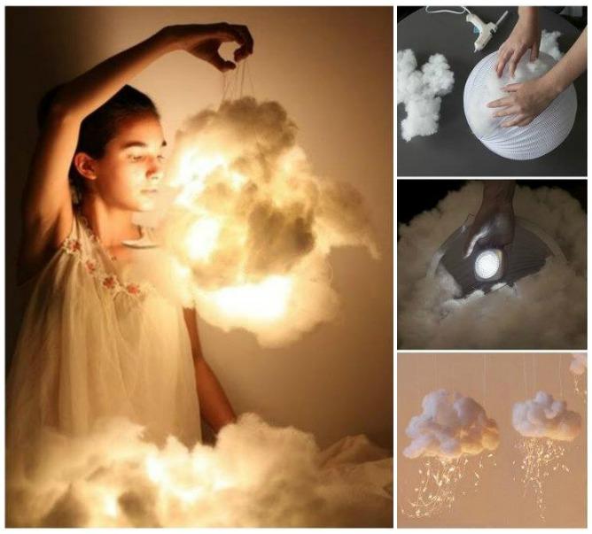 The most amazing lamp.DIY Cloud Light - HANDY DIY
