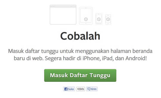 tampilan baru facebook 2013