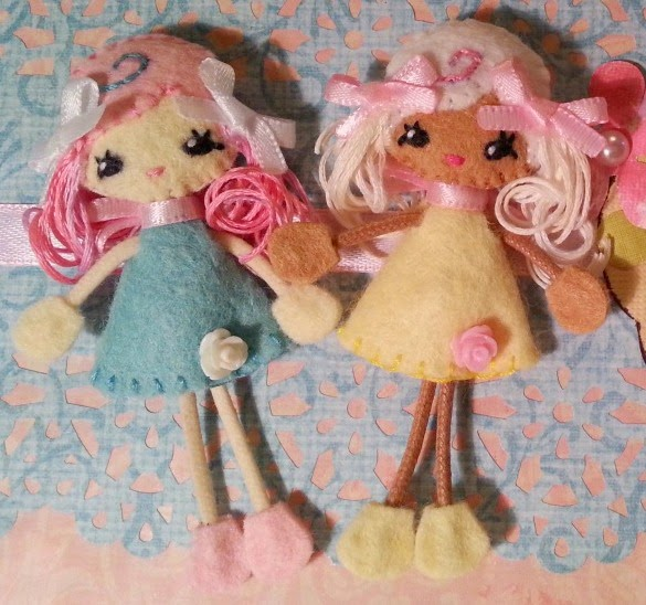 Mimi and Zara Sunshine Teeny Pocket Dolls