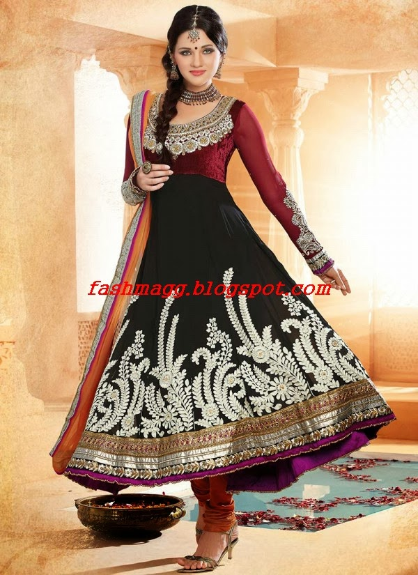 Unique Amazing Black Color Anarkali Frocks Designs 4  DressAnarkali
