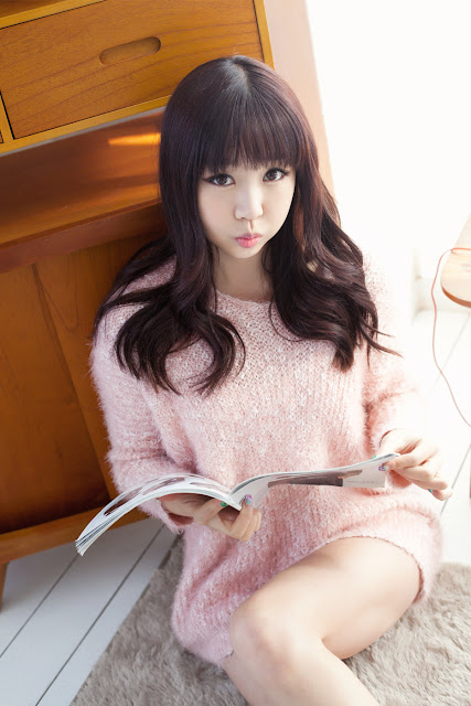 3 Hong Ji Yeon in Pink-Very cute asian girl - girlcute4u.blogspot.com