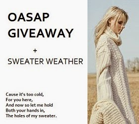 Win a SWEATER with Oasap