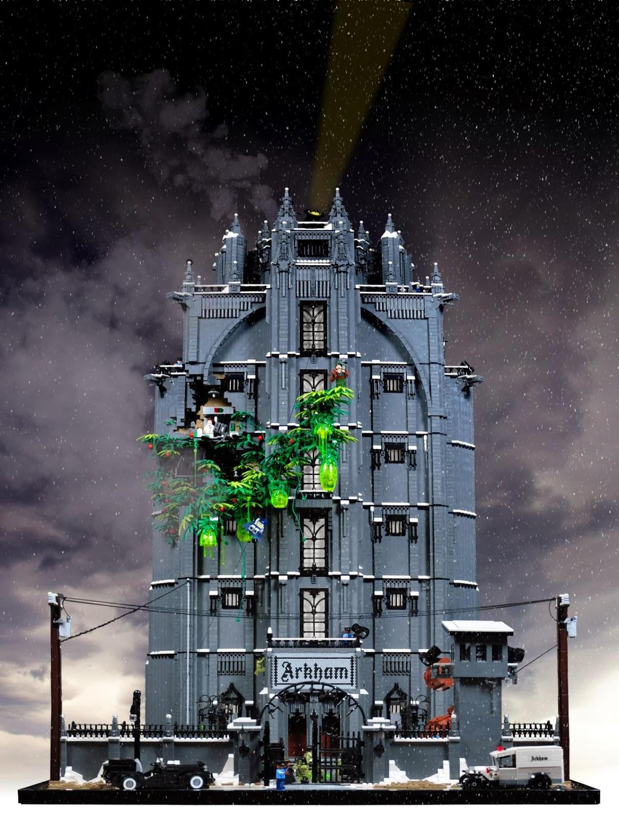 how to build a lego arkham asylum