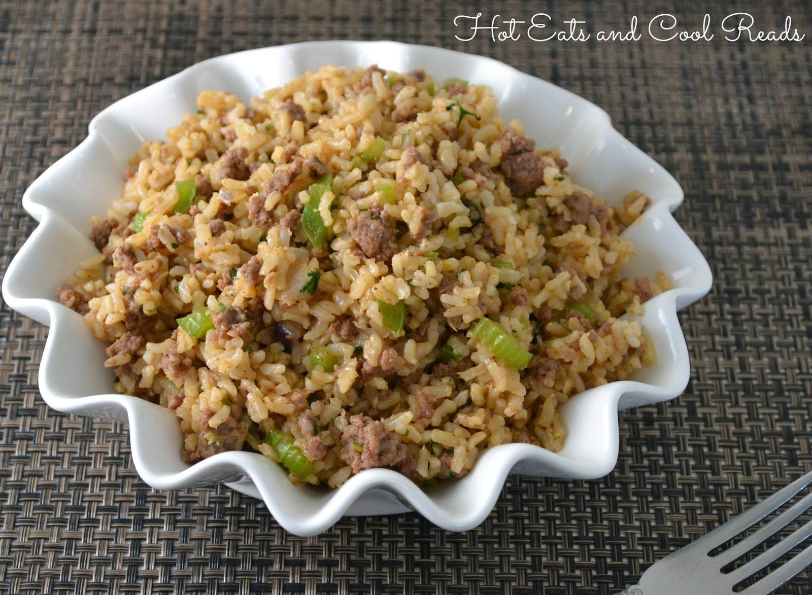 Hot Eats and Cool Reads: Ground Beef Dirty Rice Recipe