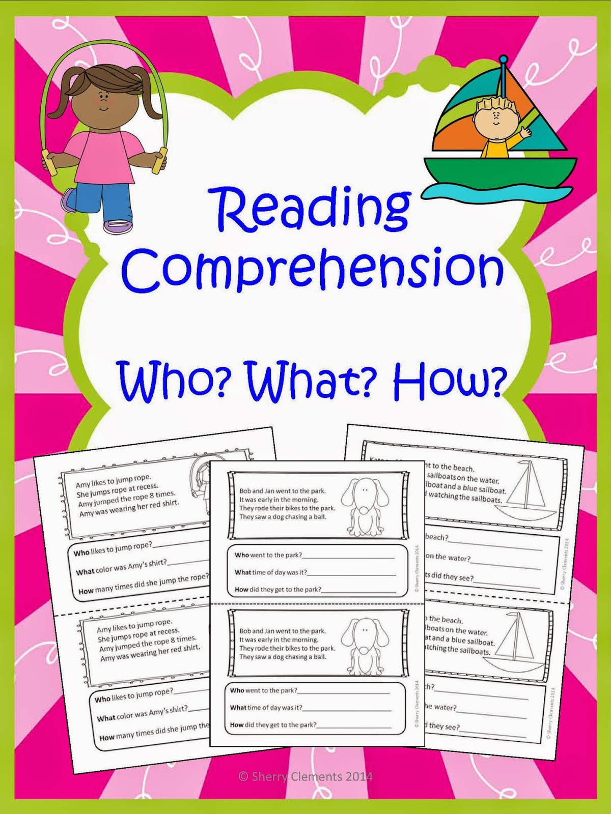 Worksheet What Is Reading Comprehension teacher deals and dollar steals reading comprehension who what this 7 page book is designed so that you can copy the cut it in half staple then ready for use if would ra