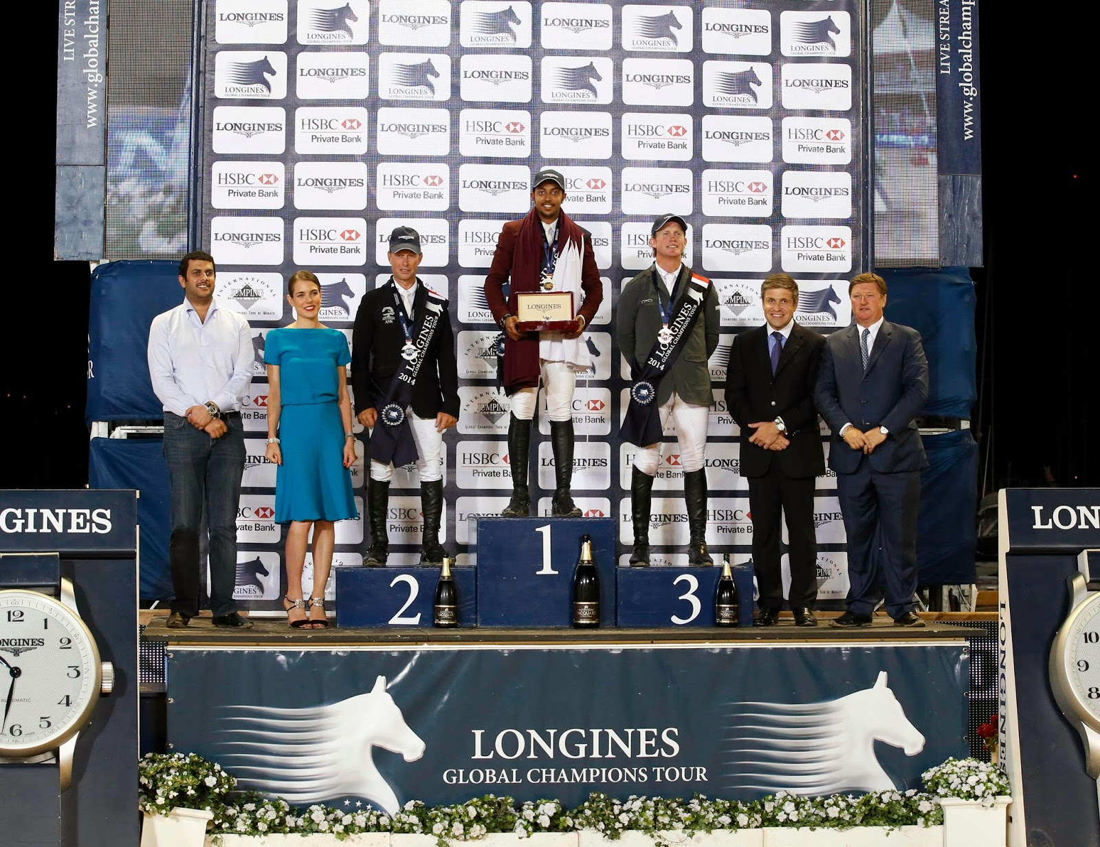 LONGINES Conquest, Global Champions Tour 2014 Montecarlo, Charlotte Casiraghi, Juan Carlos Capelli, Mohammed Bassem Hassan