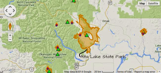 Alta Lake State Park and Wildfire | Camp Jackalope