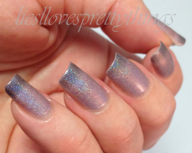 Celestial Cosmetics Iron Born thermal holo polish