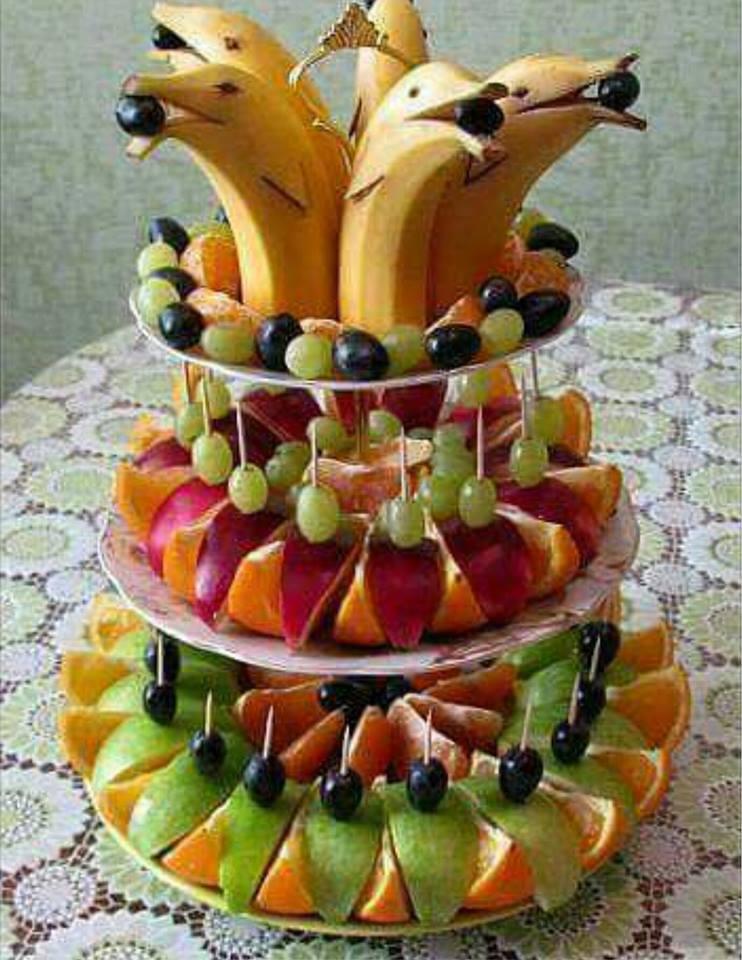 Красивые украшения из фруктов фото