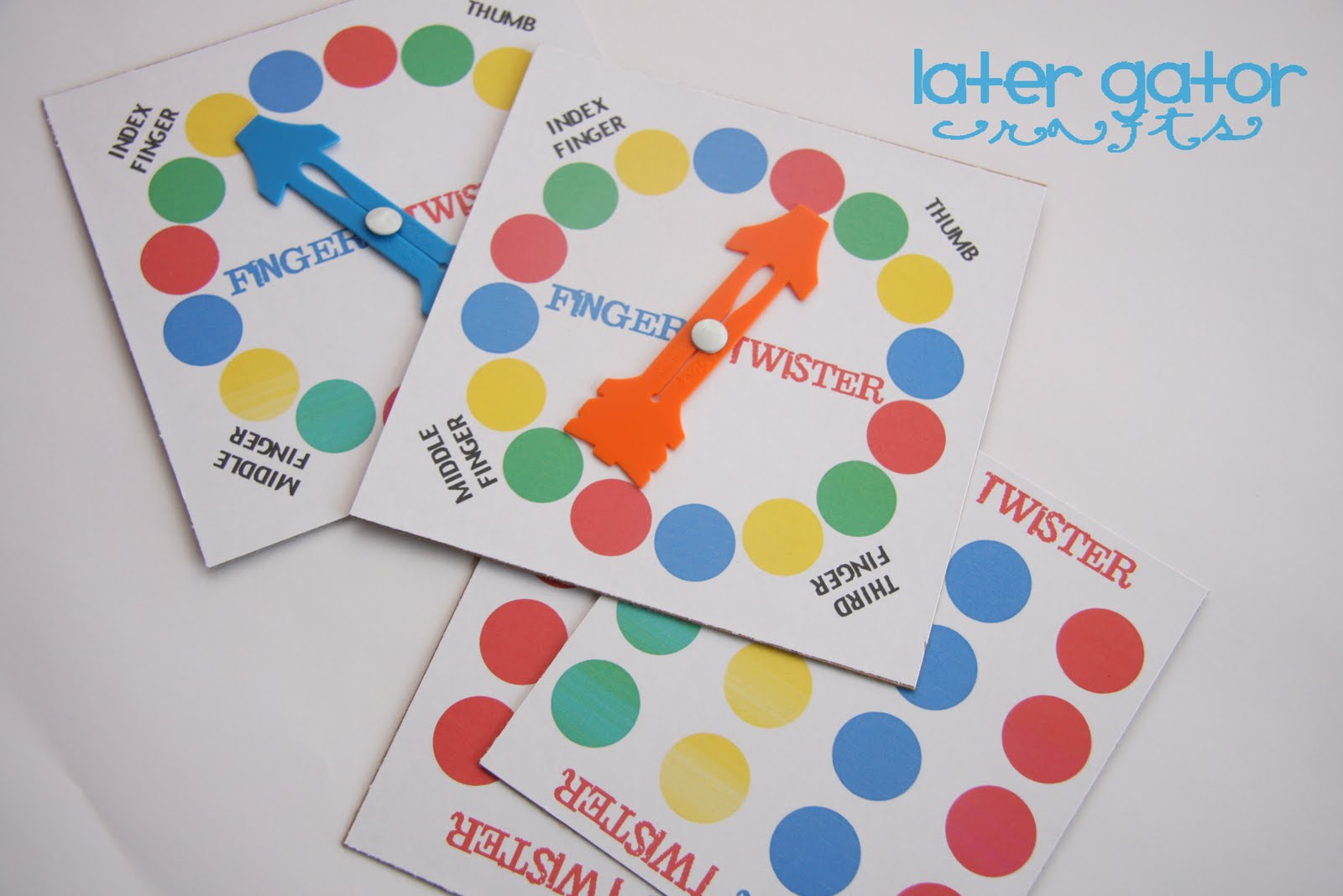 photograph relating to Finger Twister Printable known as Later on Gator Crafts: Finger Twister