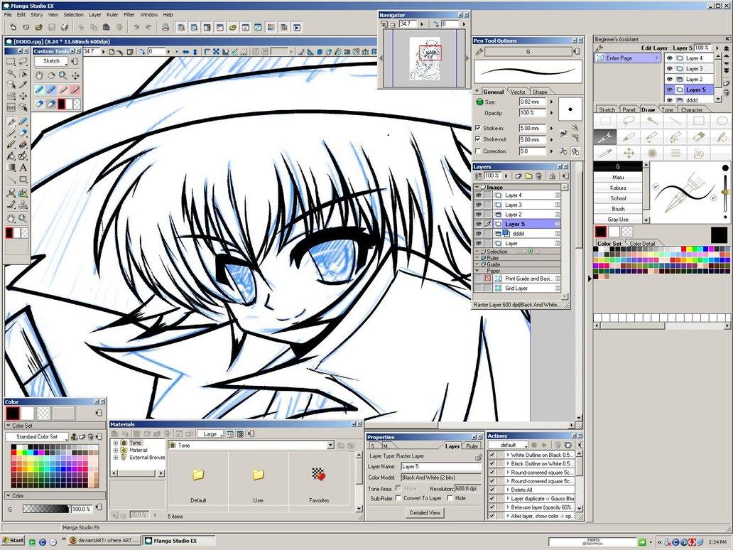Como dibujar anime en la pc computadora programa manga for Programas para dibujar