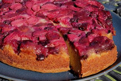 Gluten Free Alchemist: Plum & Blueberry Upside Down Cake (gluten free)