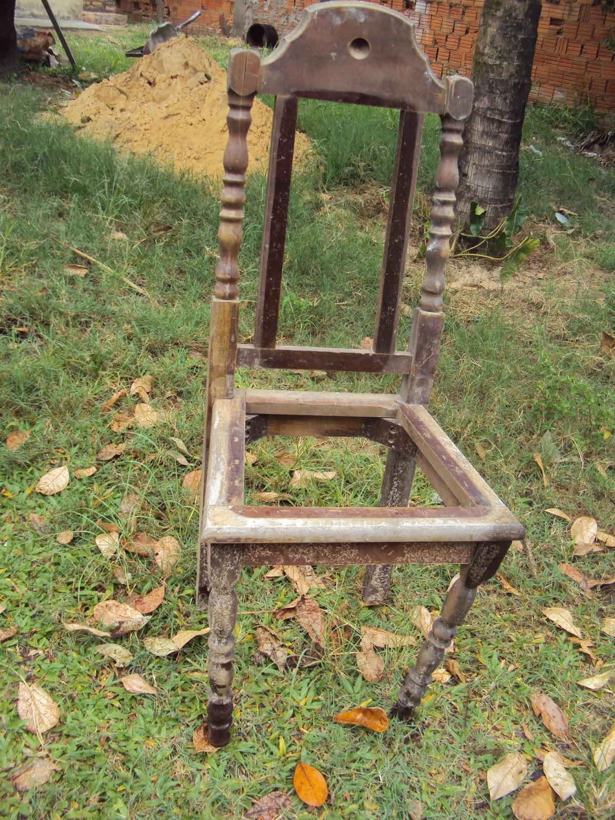 decorar cozinha velha:Re-inventos : Transformando uma cadeira velha