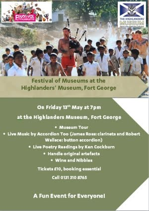 Fort George festival of museums Fri 13th May