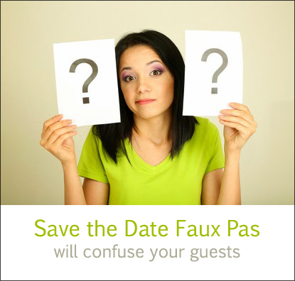 Save the Date Question Lady
