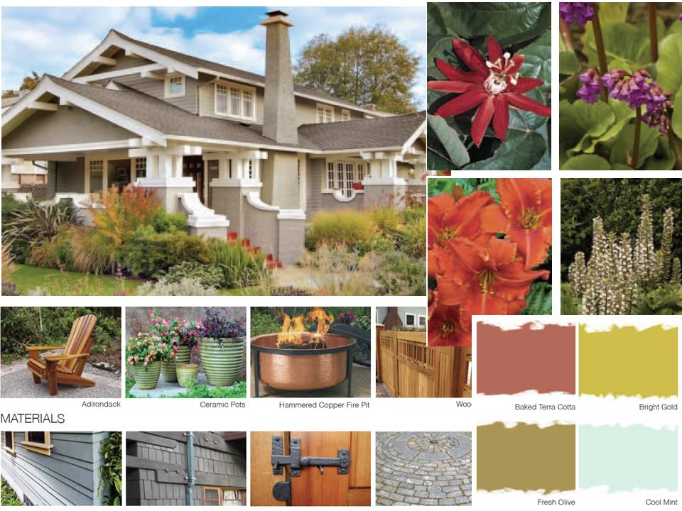 Studio garden bungalow landscape design guides for Craftsman style garden designs