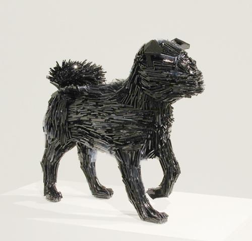 Marta-Klonowska-Animal-Glass-Shard-Sculpture-La-Marquesa-de-Pontejos-afte- Francisco-de Goya-1a
