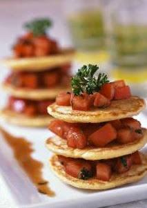 Blini's with tomato