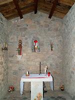Interior de la capella de Santa Àgata