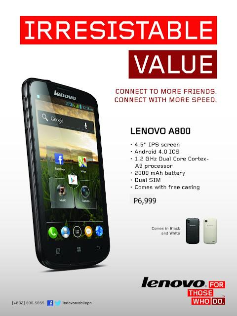 Lenovo A800 price
